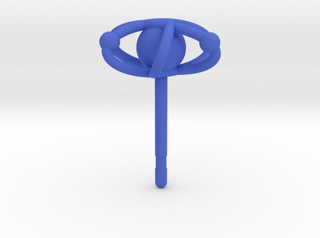 Atom Earring in Blue Processed Versatile Plastic