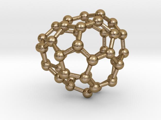 0657 Fullerene c44-29 c1 in Polished Gold Steel