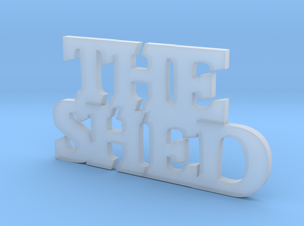 THE SHED in Smooth Fine Detail Plastic