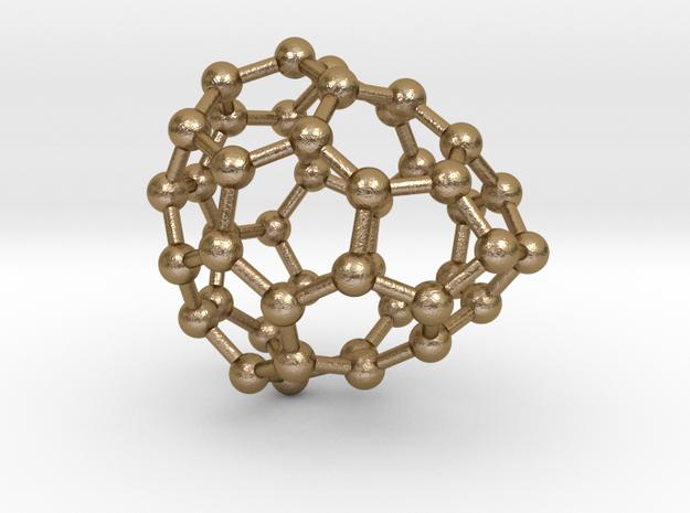 0664 Fullerene c44-36 c1 in Polished Gold Steel