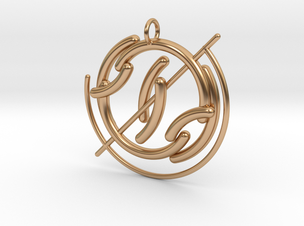 G Pendant in Polished Bronze