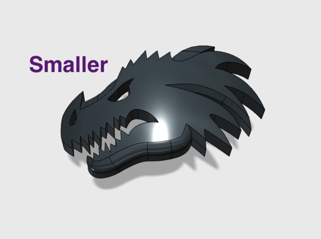 60x Dragon Head : Smaller Shoulder Insignias in Smooth Fine Detail Plastic