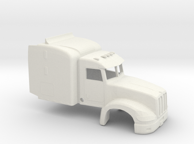 1/32 Peterbillt 386 Cab/Sleeper in White Natural Versatile Plastic