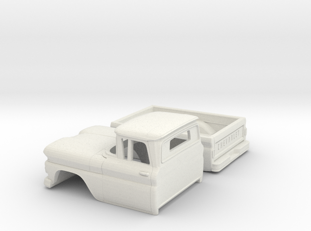 1/32 1961 Chevrolet C-10 Fleetside in White Natural Versatile Plastic
