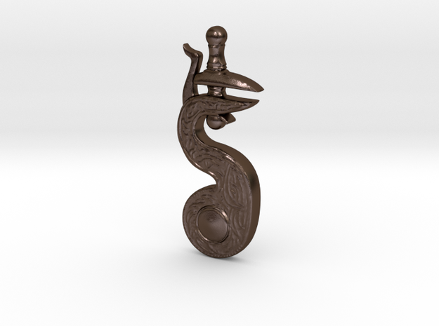 Firing Hammer Badge in Polished Bronze Steel