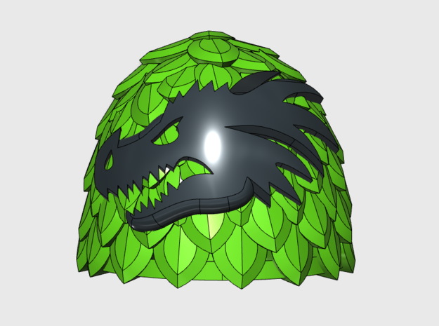 Dragon Head = Void Scale Left Shoulders x10 in Smooth Fine Detail Plastic