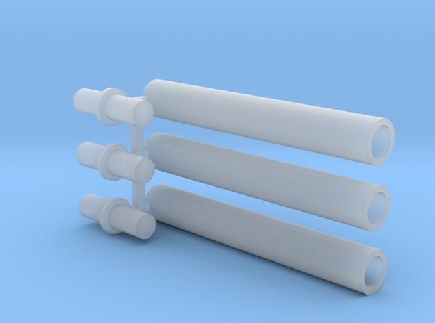 Rauchabzug Rohr 90mm 1:120 TT in Smooth Fine Detail Plastic