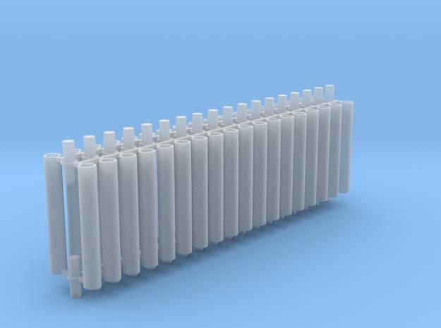 Rauchabzug Rohr 90mm 12erSet 1:120 TT in Smooth Fine Detail Plastic