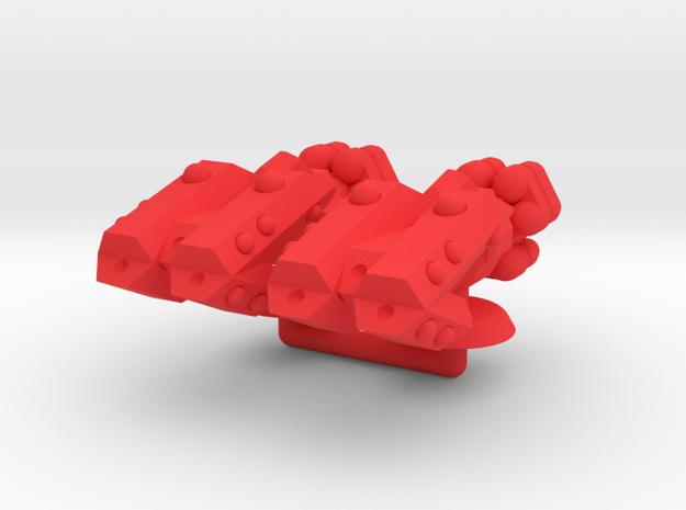Zeta Generic Large Warship Group in Red Processed Versatile Plastic