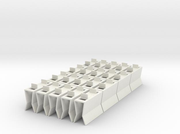 HIC Clip 2 No Tops in White Natural Versatile Plastic