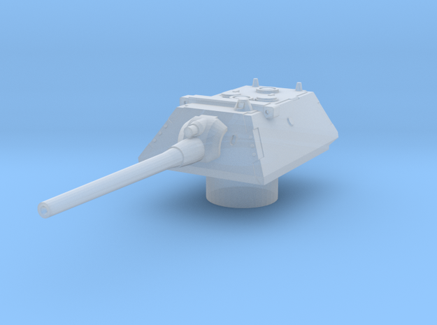 krupp turret for E100 scale 1/144 in Smooth Fine Detail Plastic