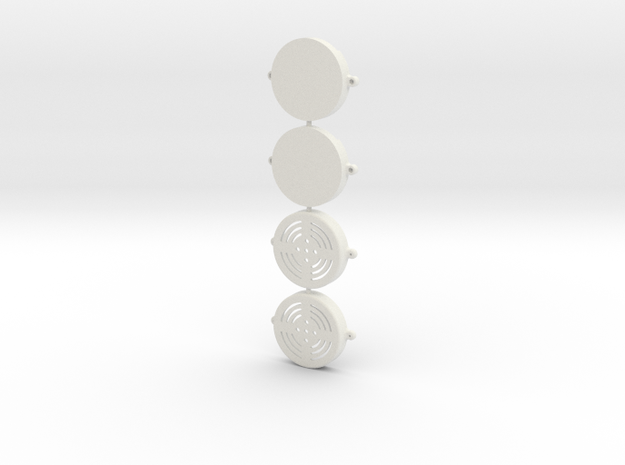 Radio Shack speaker mounts in White Natural Versatile Plastic