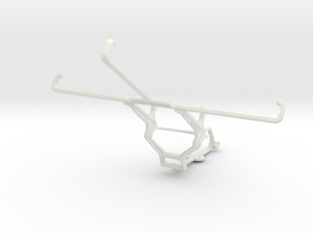 Controller mount for Steam & Samsung Galaxy Tab 3  in White Natural Versatile Plastic