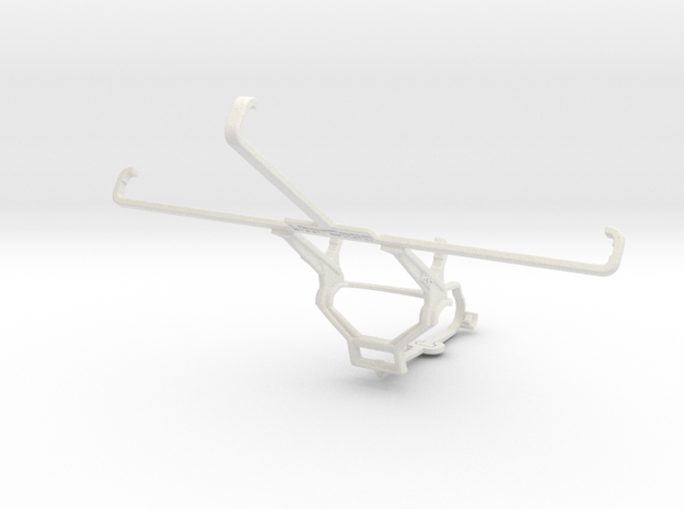 Controller mount for Steam & HP Stream 7 - Front in White Natural Versatile Plastic