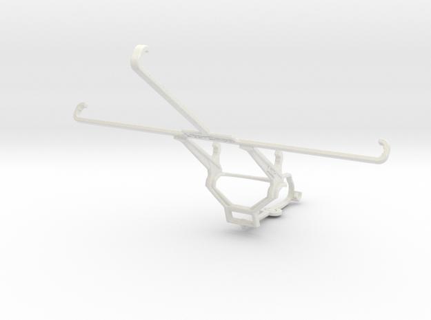 Controller mount for Steam & Apple iPad mini 2 - F in White Natural Versatile Plastic