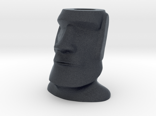 Moai Easter Island Head Charm in Black PA12