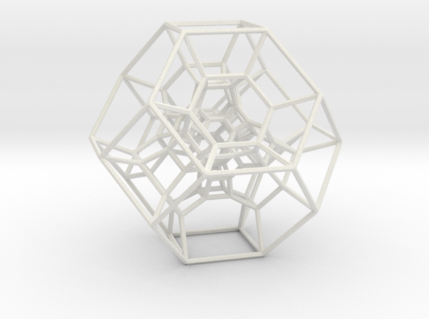 Permutohedron of order 5 (full) in White Natural Versatile Plastic