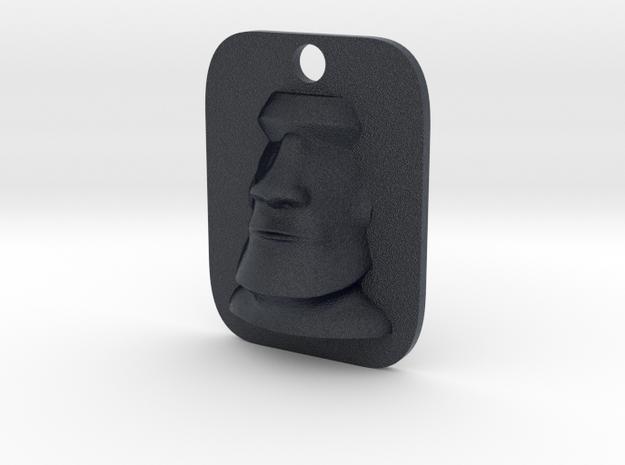 Moai Easter Island Head Keyfob in Black PA12