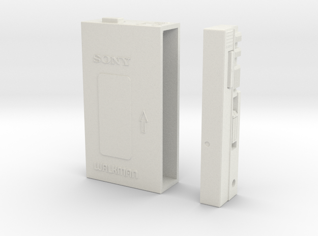 Walkman-4-Inch in White Natural Versatile Plastic