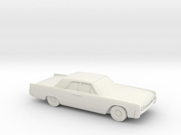 1/72 1962 Lincoln Continental Sedan in White Natural Versatile Plastic