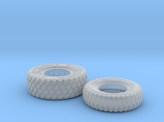 1/24 Mich XZL 395-85R20 + 900x20 M35 Tire Set003 in Smooth Fine Detail Plastic