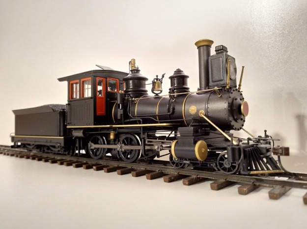 Fluted Domes for Bachmann On30 Inside Framed 4-4-0 in Smooth Fine Detail Plastic