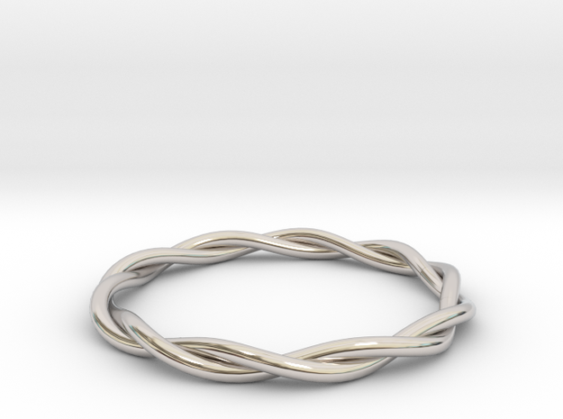 TURN in Rhodium Plated Brass: Small