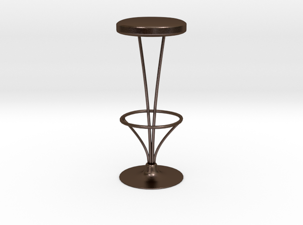 Bar chair in Polished Bronze Steel