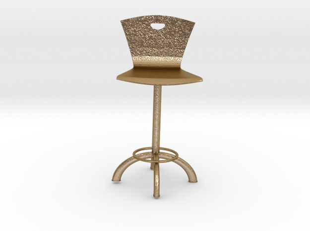BAR CHAIR in Polished Gold Steel