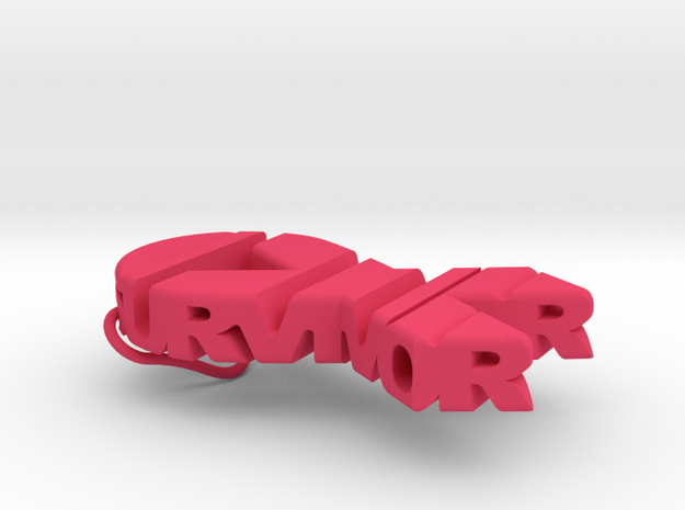 Cancer Ribbon Keychain in Pink Processed Versatile Plastic