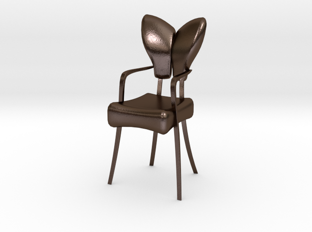 Butterfly Chair in Polished Bronze Steel