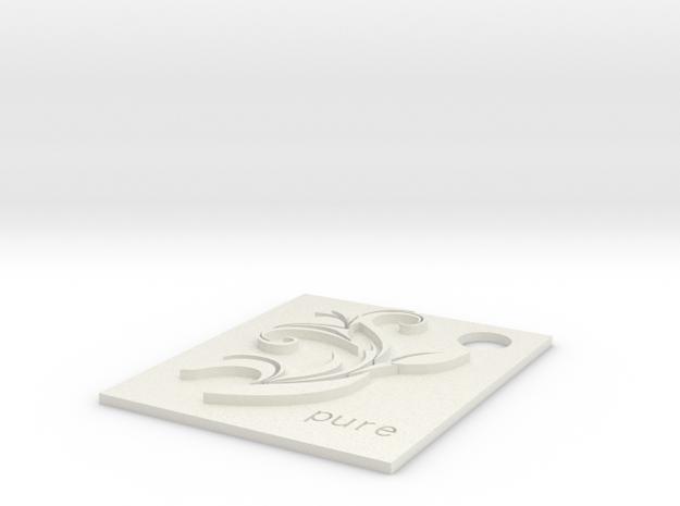 Lily Charm.stl in White Natural Versatile Plastic