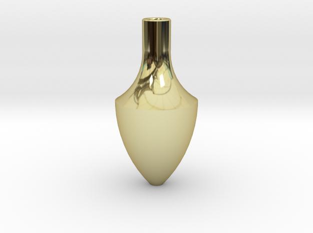 花瓶三.stl in 18k Gold Plated Brass