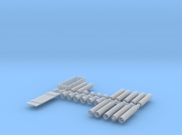 SET-Proyectiles con Fundas+caja 105-72-proto-01 in Smooth Fine Detail Plastic