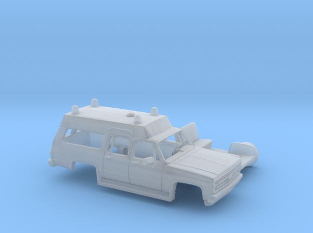 1/87 1980-88 Chevrolet Suburban Ambulance Kit in Smooth Fine Detail Plastic