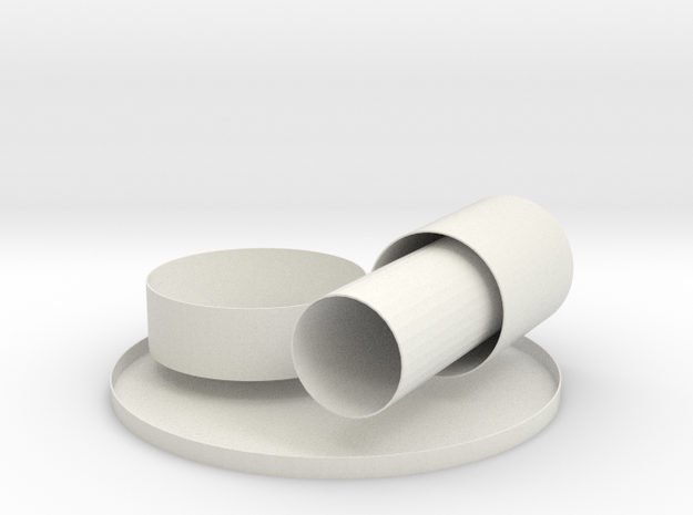 Classroom cylinders in White Natural Versatile Plastic