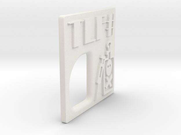 TMF# - DOPE Door - 18350 in White Natural Versatile Plastic