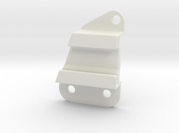 Lancia Delta 1 L front Bumper Mount  in White Natural Versatile Plastic