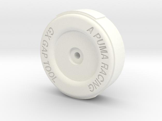 Fender/ shield gap tool in White Processed Versatile Plastic