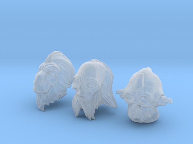 Alien Head set 1 in Smoothest Fine Detail Plastic