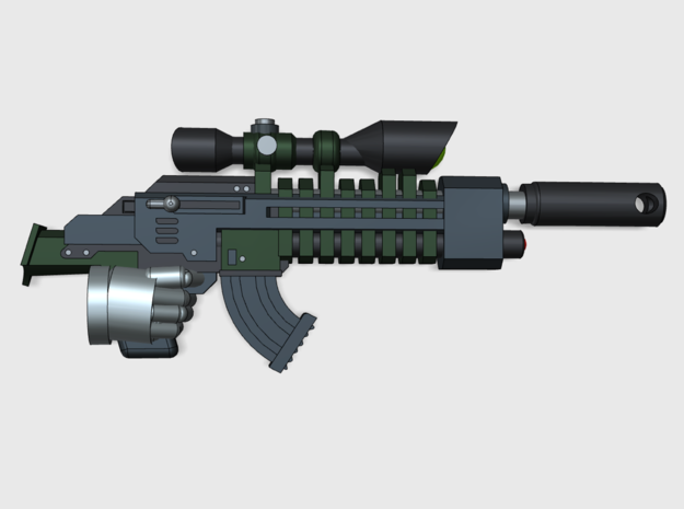 10x Sniper Rifle-HP1 in Smooth Fine Detail Plastic