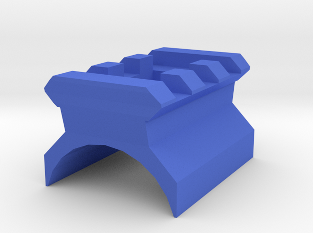 AK Top Cover Picatinny Rail (3 Slots) in Blue Processed Versatile Plastic