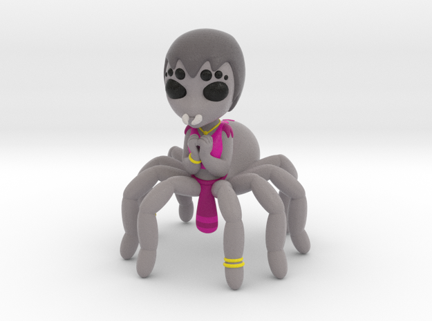 Spider girl in Matte Full Color Sandstone