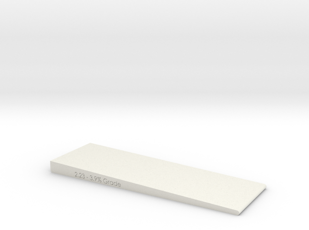 2 Inch Wide- Grade checker/leveler  in White Natural Versatile Plastic