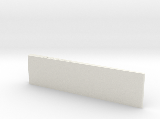 1.5 Inch Wedge- Grade leveler/checker in White Natural Versatile Plastic