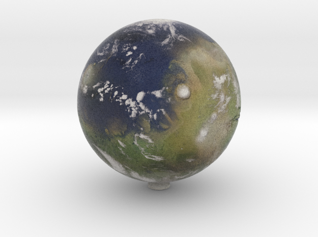 "Terraformed Mars /12"" Earth globe addon in Natural Full Color Sandstone"