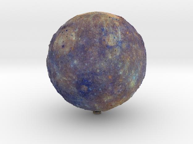 "Mercury, Enhanced Color /12"" Earth globe addon in Natural Full Color Sandstone"