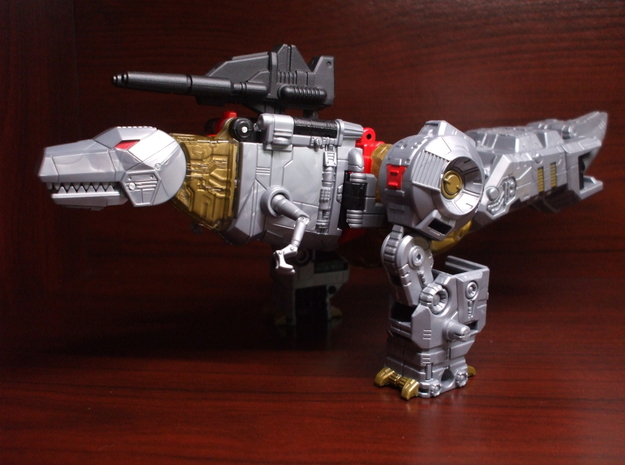 Twin Stunner Laser Rifle for PotP Grimlock in White Natural Versatile Plastic