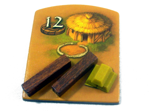 Gold Bars For Stone Age, Set of 10 in Full Color Sandstone