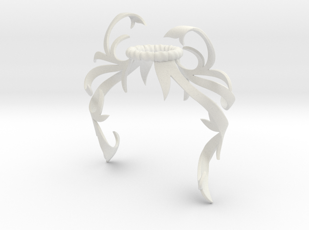 Flair Mantling (Asymmetrical) in White Natural Versatile Plastic: Small